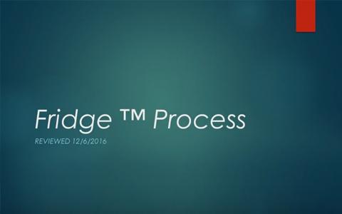 Fridge Process step by step slide show #Dental Implants Fridge Part # 1