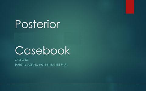 Posterior Teeth Casebook